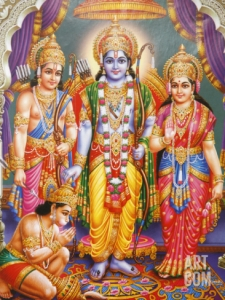 godong-picture-of-hindu-gods-laksman-rama-sita-and-hanuman-india-asia_i-G-64-6411-58Y9100Z
